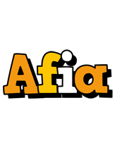 Afia cartoon logo