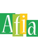 Afia lemonade logo