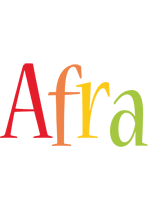 Afra birthday logo