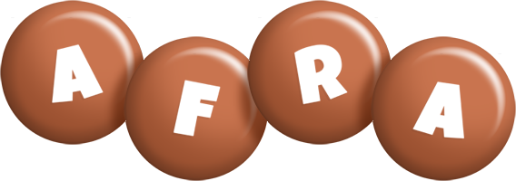 Afra candy-brown logo