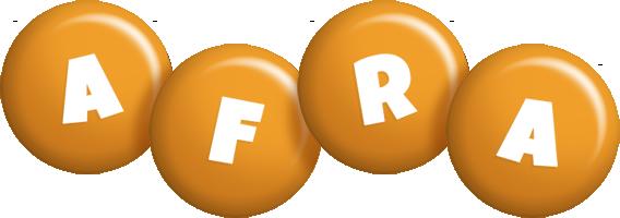 Afra candy-orange logo