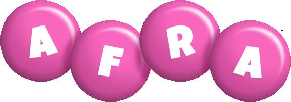 Afra candy-pink logo