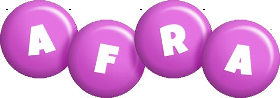 Afra candy-purple logo