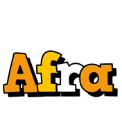 Afra cartoon logo