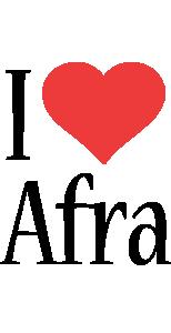 Afra i-love logo