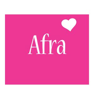 Afra love-heart logo