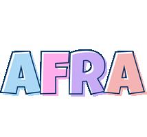 Afra pastel logo