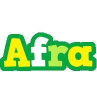 Afra soccer logo