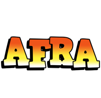 Afra sunset logo