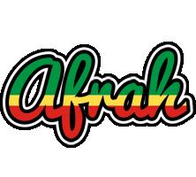 Afrah african logo