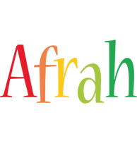 Afrah birthday logo