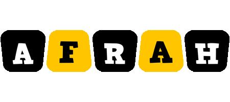 Afrah boots logo