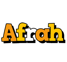 Afrah cartoon logo