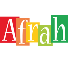 Afrah colors logo
