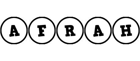 Afrah handy logo