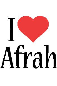 Afrah i-love logo