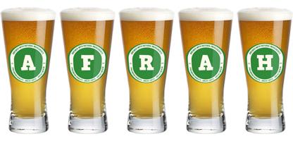 Afrah lager logo