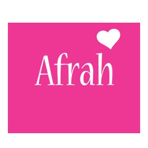 Afrah love-heart logo