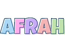 Afrah pastel logo