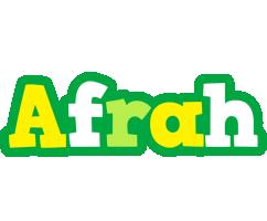 Afrah soccer logo