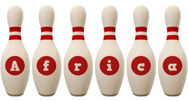 Africa bowling-pin logo