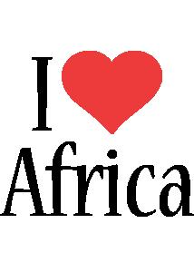 Africa i-love logo