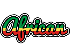 AFRICAN logo effect. Colorful text effects in various flavors. Customize your own text here: https://www.textGiraffe.com/logos/african/