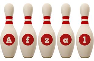 Afzal bowling-pin logo