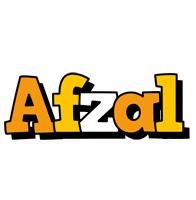 Afzal cartoon logo