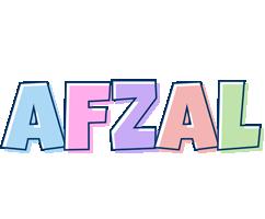 Afzal pastel logo
