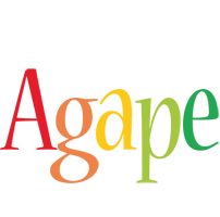 Agape birthday logo
