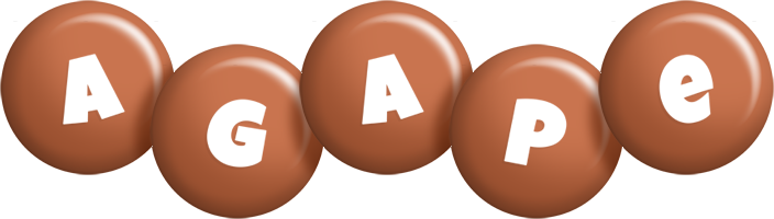 Agape candy-brown logo