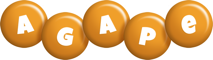 Agape candy-orange logo