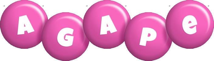Agape candy-pink logo