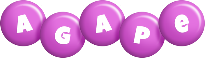 Agape candy-purple logo