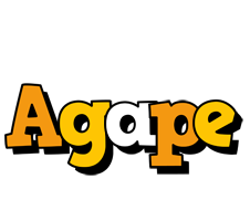 Agape cartoon logo