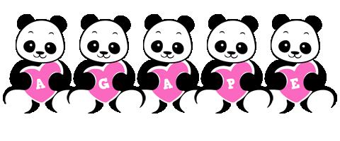 Agape love-panda logo