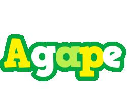 Agape soccer logo