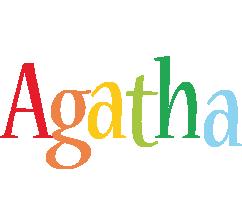 Agatha birthday logo