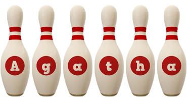 Agatha bowling-pin logo