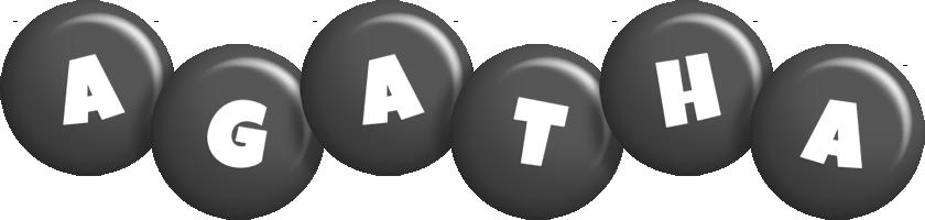 Agatha candy-black logo