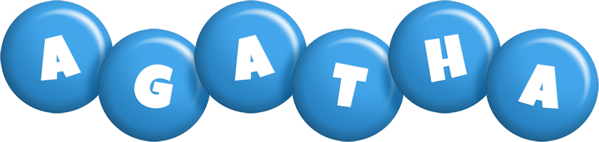 Agatha candy-blue logo