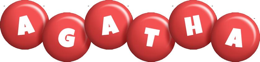 Agatha candy-red logo