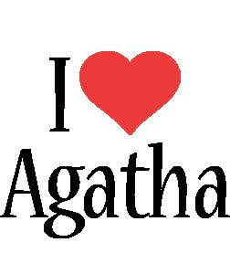 Agatha i-love logo