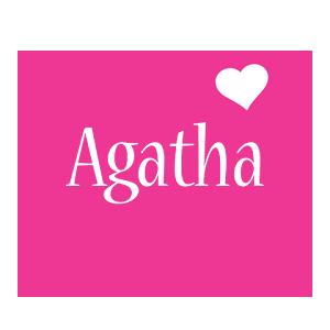 Agatha love-heart logo