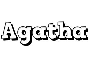 Agatha snowing logo