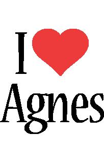 Agnes i-love logo