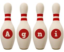 Agni bowling-pin logo