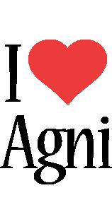 Agni i-love logo