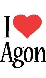 Agon i-love logo